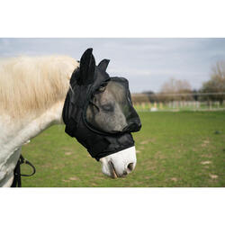 Máscara Antimoscas EquitaciónFouganza 500 Negro Caballo