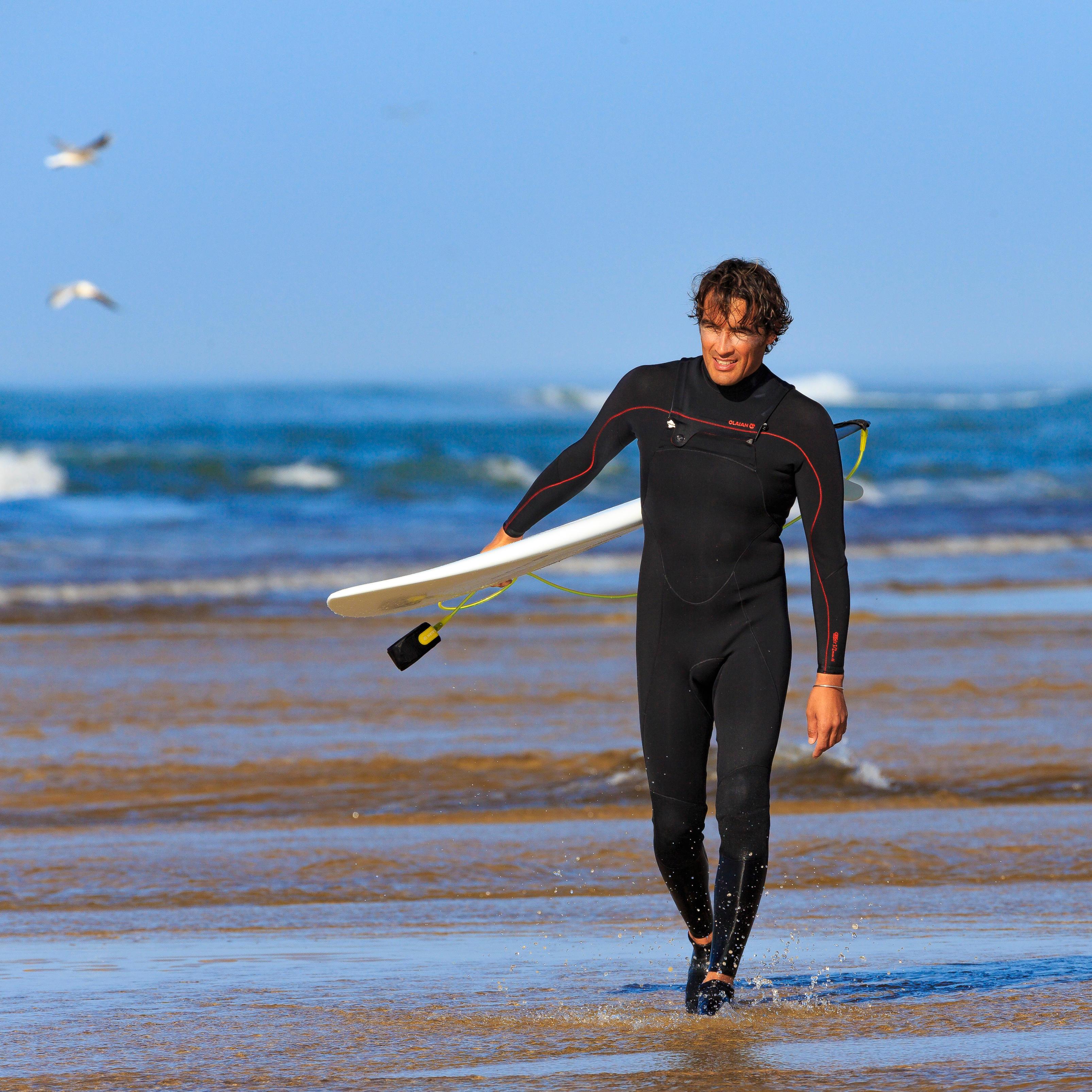 Surf Noir Néoprène 32 900 Mm Zip Poitrine Homme Combinaison TlFKJcu31