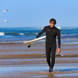 Chaussons bas surf 500 Néoprène 2mm gris noir