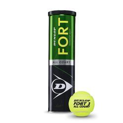 Tennisbälle Fort all Court ×4 gelb