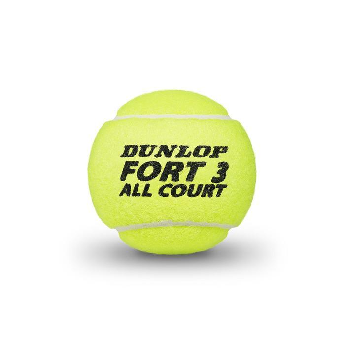 BALLES DE TENNIS PRESSION FORT ALL COURT *4 JAUNES TOUTES SURFACES