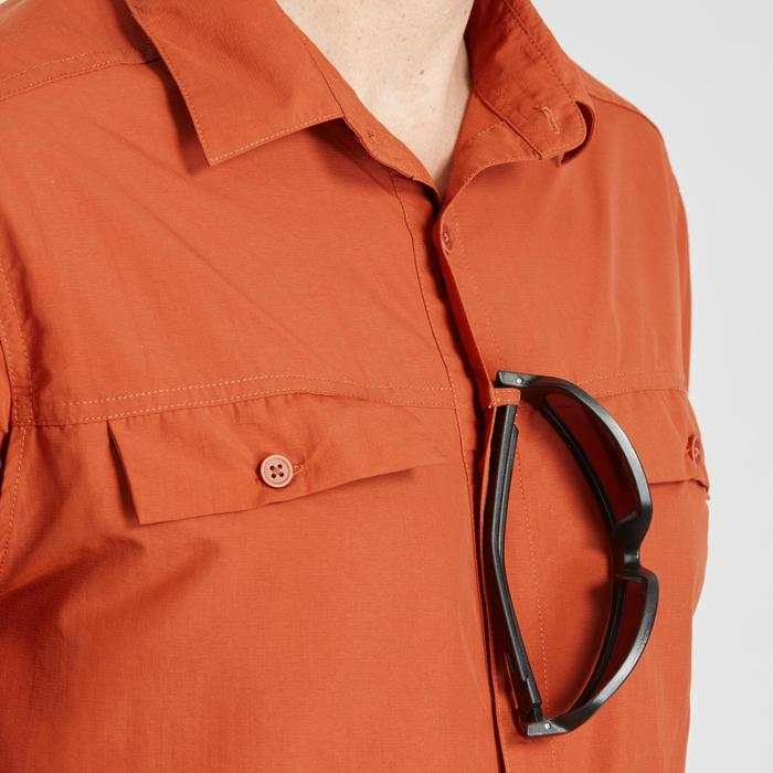 Chemise manches longues de Trekking désert anti-UV - DESERT 500 homme orange