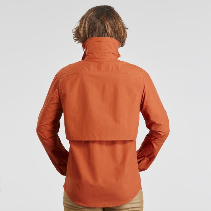 Camisa manga larga de Trekking desierto DESERT 500 hombre naranja