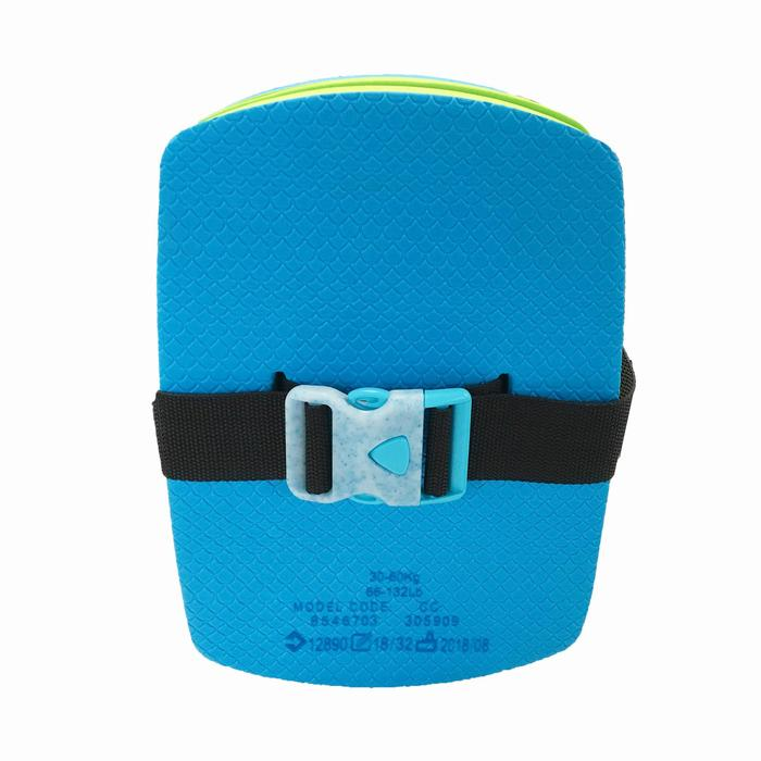 Zwemgordel blauw groen met afneembare drijfhulp 30-60 kg