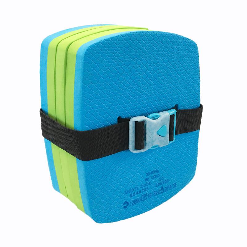 Dětský plavecký pás s odepínacími díly modro-zelený