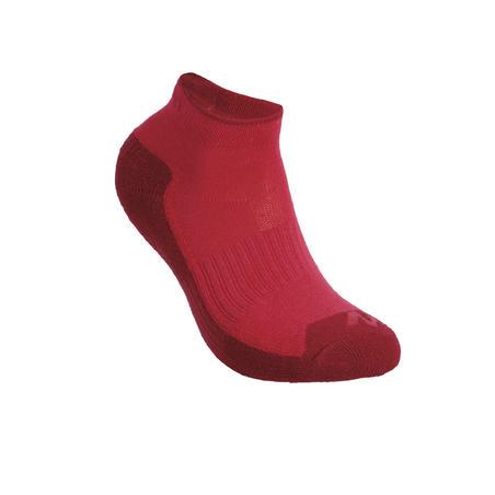 Kids' Mid-height Hiking Socks MH100 2-pack Pink/Grey