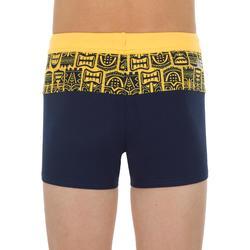 Zwemboxer jongens 100 Pool Block Tiki geel