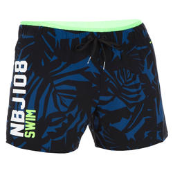 Men Swimming short - Printed Blue Black