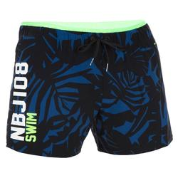 NBJI 100 MEN'S SHORT SWIMMING SHORTS ALL LIA BLACK