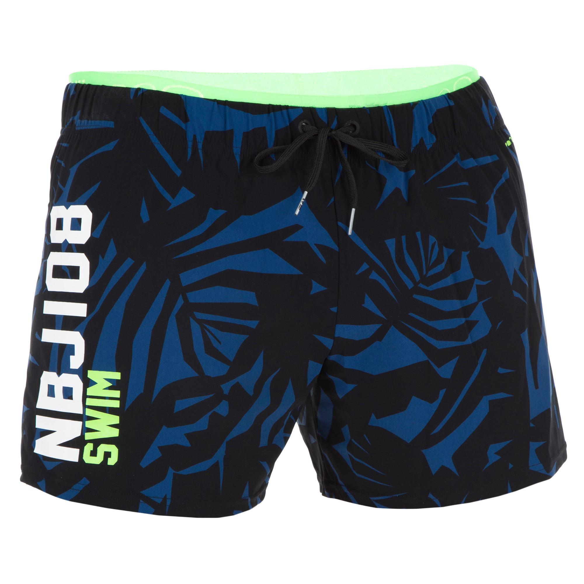 Schwimmshorts 100 CourtAll Lia NBJI Herren schwarz/blau | Sportbekleidung > Sporthosen > Sportshorts | Nabaiji