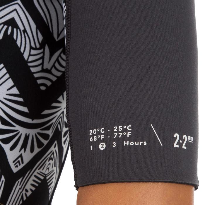 Neoprenanzug Shorty 500 Stretchneopren 2mm Damen schwarz mit Print