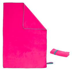 Toalla microfibra rosa M