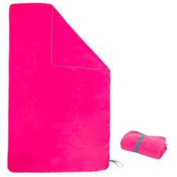 Zachte microvezelhanddoek roze XL