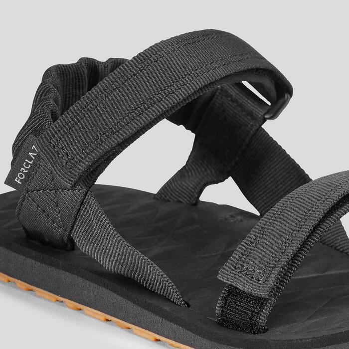 Herensandalen voor backpacken Travel 100 carbongrijs