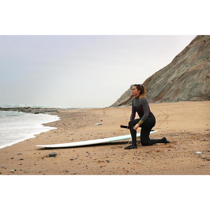 Traje Neopreno Surf Olaian Mujer 4/3 Negro Gris Invierno