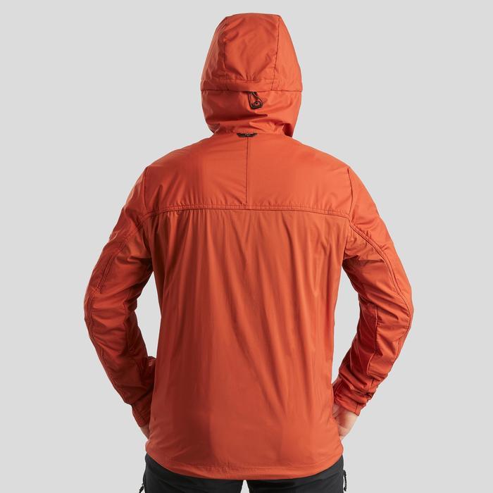 Warme winddichte softshelljas voor bergtrekking heren Trek 900 Windwarm oranje