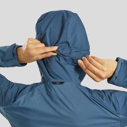 Veste softshell coupe vent de trek montagne - TREK 900 bleu ardoise femme