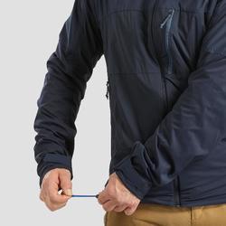 Softshell chaude coupe vent de trek montagne - TREK 900 WINDWARM bleu homme