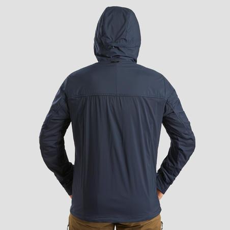 Чоловіча куртка TREK 900 WINDWARM для гірського трекінгу, з софтшелу - Синя