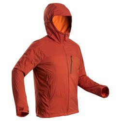 Cortaviento cálido de trekking en montaña TREK 900 WINDWARM hombre naranja