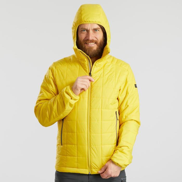 Wattierte Jacke Trek 100 mit Kapuze Herren gelb