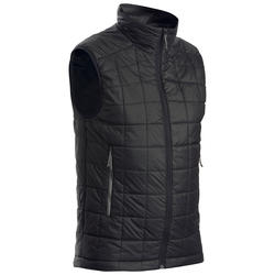 Men's Mountain Trekking Sleeveless Padded Jacket Trek 100 - black