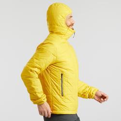 Gewatteerde jas heren Trek 100 geel