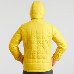 Veste rembourrée randonnée montagne RANDO 100 capuchon homme jaune