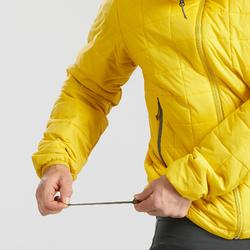 Doudoune de trek montagne - TREK 100 CAPUCHE jaune homme