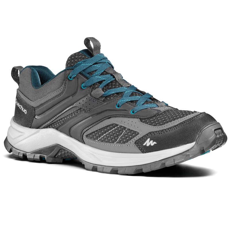 MEN MOUNTAIN HIKING SHOES Hiking - MH100 Mens Walking Shoes - Black  QUECHUA - Outdoor Shoes