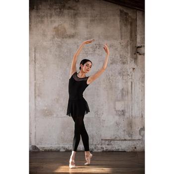 Tanzbody Ballett kurzarm Damen schwarz