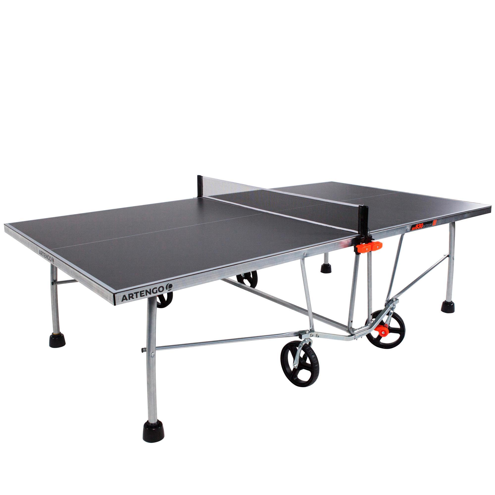 table ping pong outdoor ft830 tennis de table artengo. Black Bedroom Furniture Sets. Home Design Ideas