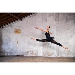 Balletpakje met gekruiste bandjes voor dames zwart