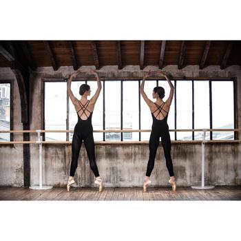 Justaucorps de danse classique à bretelles croisées femme bleu noir