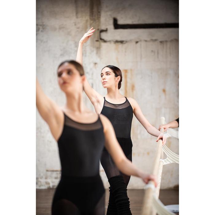 Tanzbody mit gekreuzten Trägern Ballett Damen blau/schwarz