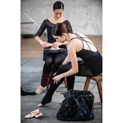 Tas met compartimenten voor balletschoenen zwart
