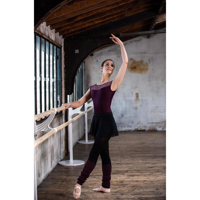 Guêtres de danse classique et moderne femme prunes