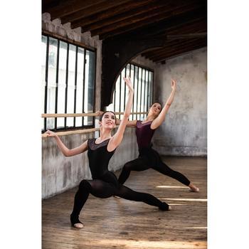 Tanzstulpen lang für Ballett und Modern Dance Damen schwarz