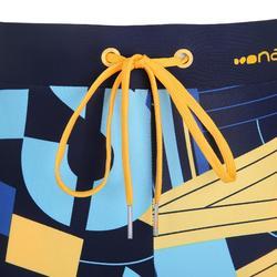 Men's Swimming Boxer Shorts 100 - Pep Block Yellow