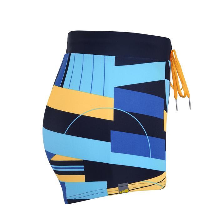 男款四角泳褲100 PEP-黑黃色