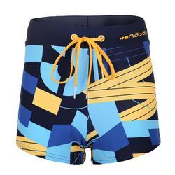 Men's Swimming Boxers 100 - Pep Block Yellow