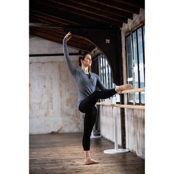 Cache coeur danse classique gris chiné femme