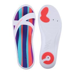 女款泳池拖鞋Slap 500 - 白色綠色