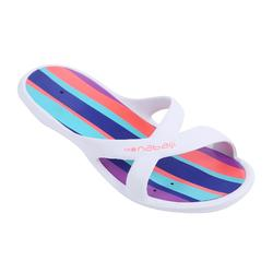 Women's Pool Sandals Slap 500 - White Green