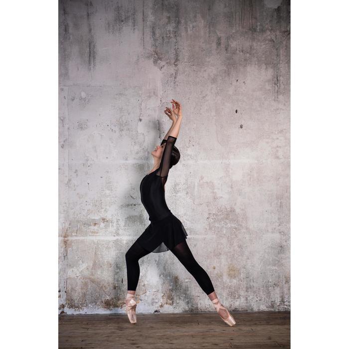 Balletrokje in voile voor dames zwart