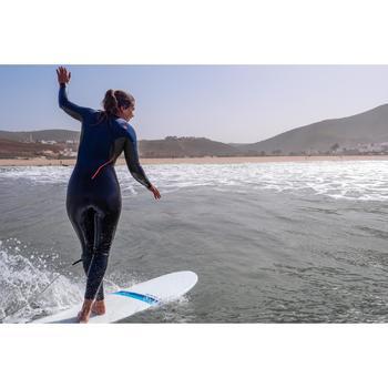 Wetsuit voor surfen dames fullsuit 3/2 500 rugrits