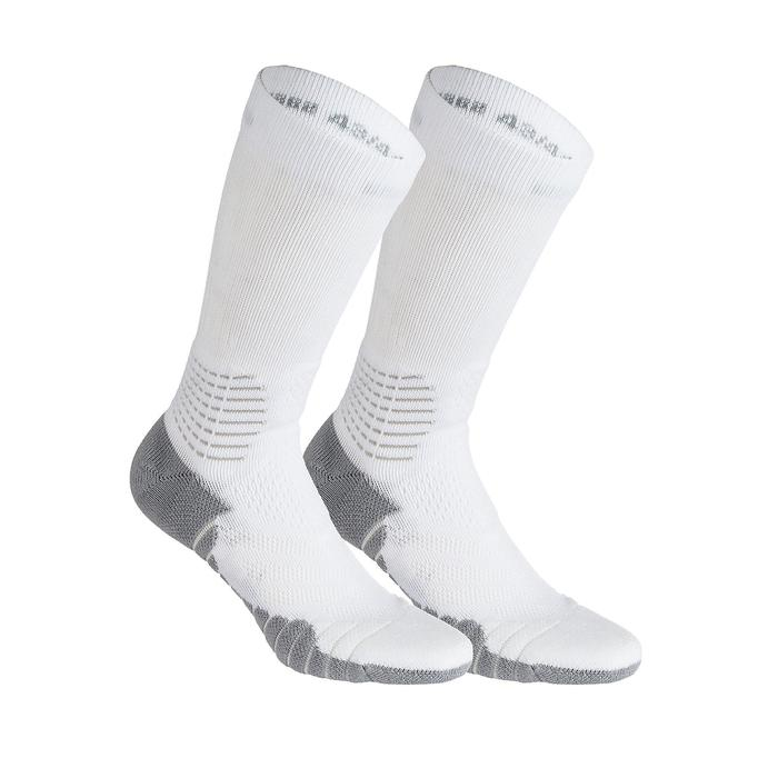進階中筒籃球襪SO900-白色/灰色