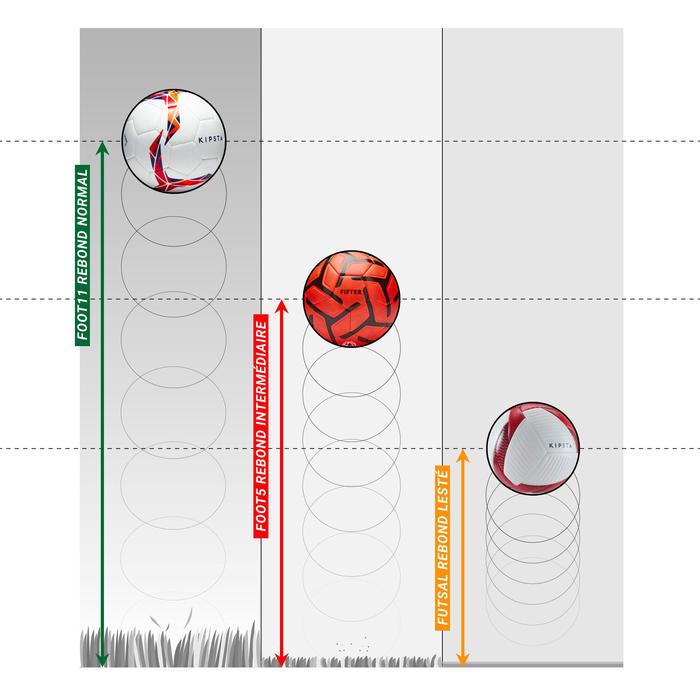 Voetbal voor 5 a side Society 100 maat 5 oranje/rood