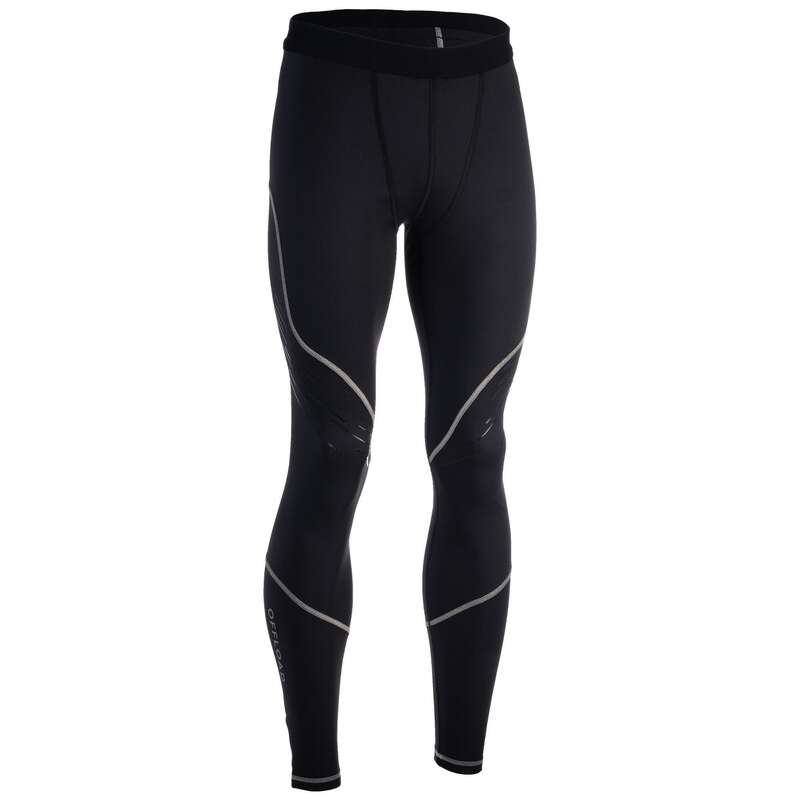 HABILLEMENT TEMPS FROID Sport di squadra - Pantaloni rugby R500 neri OFFLOAD - Rugby
