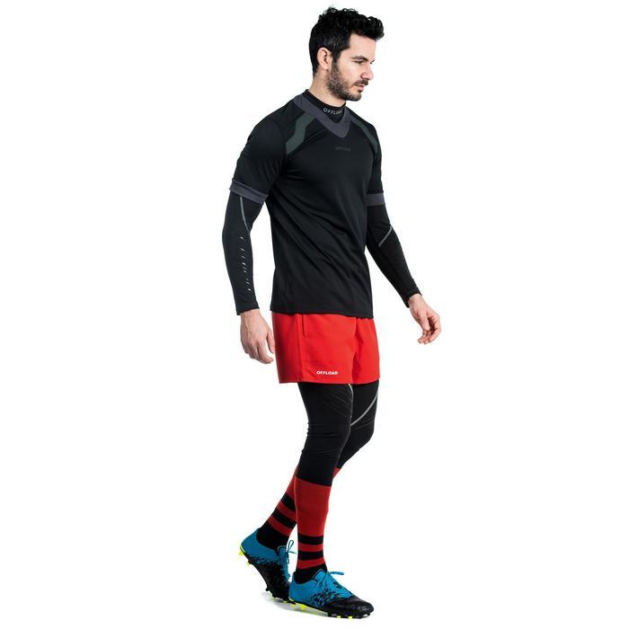 Thermobroek voor rugby volwassenen R500 zwart